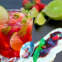 "Confiture cocktail ""Mojito fraise"""